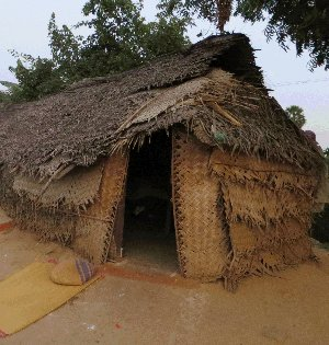 The hut Joseph and Mary lived in was even smaller than this . . .