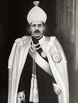 Mir Osman Ali Khan, nizam of Hyderabad.